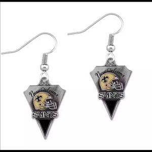 Jewelry - Brand New New Orleans Saints Custom Earrings